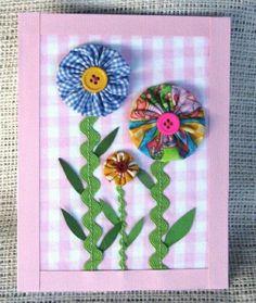 carte de voeux a faire soi meme avec des fleurs en papier coloré