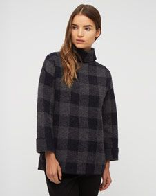 gingham-pattern-sweater
