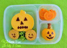 Kitchen Fun With My 3 Sons: Pumpkin Bento Lunch