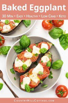 Parmesan Recipes, Raw Food Recipes, Veggie Recipes, Low Carb Recipes, Vegetarian Recipes, Dinner Recipes, Cooking Recipes, Baked Recipes Healthy, Egg Plant Recipes Healthy