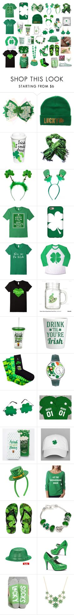 """""""Happy St. Patricks day!!"""" by maddie-the-cowgirl ❤ liked on Polyvore featuring beauty, Mixit, Whimsical Watches, Capelli New York, Napier and Vans"""