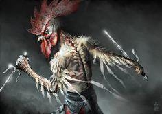 Damon Hellandbrand's zodiac monsters - Rooster