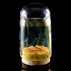 Get yourself the best possible storage containers you can find! Handmade from borosilicate glass, Ease uses gold and silver fuming techniques and mar… Marbles, Storage Containers, Glass Jars, Bud, Cannabis, Cork, Snow Globes, Seal, Canning