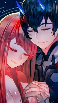 Hiro and Zero Two, hug, love, anime, artwork wallpaper Anime Girl Hot, Anime Art Girl, Anime Guys, Anime Couples Hugging, Cute Anime Couples, Querida No Franxx, Anime Zero, Koro Sensei, Nagisa Shiota