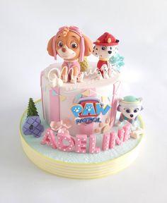 Girls Paw Patrol Cake, Skye Paw Patrol Cake, Torta Paw Patrol, Paw Patrol Birthday Girl, Paw Patrol Cupcakes, Paw Patrol Cake Toppers, Bolo Halloween, Daisy Cakes, 4th Birthday Cakes