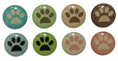 Animal Paws - 8 Piece iPhone Home Button Stickers for Apple iPhone, iPad, iPad Mini, iTouch from Picsity.com