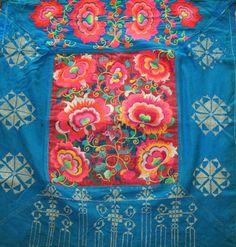 Hmong Baby Carrier/ Hmong / Miao fabric / Hmong embroidery panels / Hmong costume
