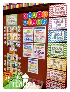 Use numbers for Classroom Jobs- Black and neon . A Cupcake for the Teacher: Classroom Reveal Finally! First Grade Classroom, New Classroom, Classroom Setting, Classroom Design, Preschool Classroom, Classroom Themes, In Kindergarten, Classroom Behavior Chart, Seasonal Classrooms