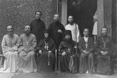 ohn in Shanghai. Beside him Mother Ariadne and his left hand Fr. Elias Wen, far left (in white robe) Fr. Faith Of Our Fathers, Old Shanghai, Russian Orthodox, Orthodox Christianity, Orthodox Icons, Current Events, Catholic, Saints, Saint John