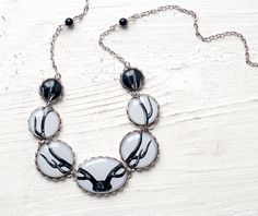 Antler necklace - Deer jewelry - Bones  (BN016) $40  Beauty Spot    Could do the entire team hooked up