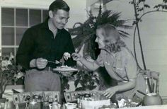 Carole and Clark, back porch, Encino ranch, (Petit Avenue)