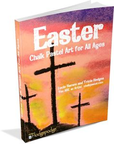 Celebrate Easter with art! Easter Chalk Pastel Art for All Ages for your artists: three crosses, Easter lily, stained glass window, Easter eggs, Lord's Supper and more tutorials! Chalk Pastel Art, Chalk Pastels, Chalk Art, Easter Art, Easter Crafts, Easter Eggs, Sidewalk Paint, Art Curriculum, Art Courses