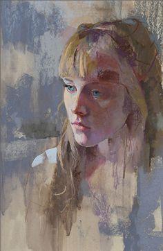 """November's Terrific Pastels: Margaret Larlham, """"Belle,"""" pastel, 18 x 12 in"""
