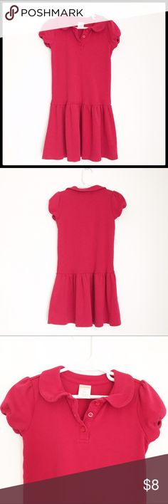 Gymboree Girls Polo Dress Gymboree Girls Short Sleeve Polo Dress, perfect little dress for warm weather or for school uniform! Worn only once, Great condition! 100% cotton Gymboree Dresses
