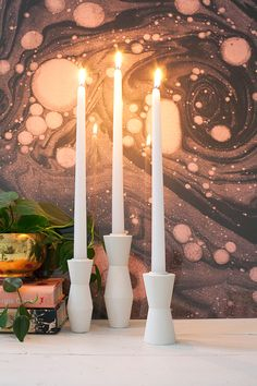 DIY Mid Century Candlestick Holders – A Beautiful Mess