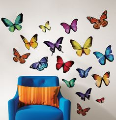 Papillion Multi Wall Art Kit