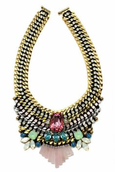 Stunning Necklace To look glamours and stunning this spire you need one of these amazing necklaces from Akong. They are such a magnificent mix of gems that blow your mind with glory. They have that royal look, and you will shine while wearing it this spring with only a little black dress.