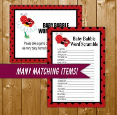 ladybug nursery rhyme quiz trivia quiz baby shower games game with