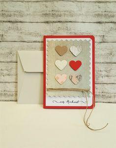 Hochzeitskarten - Hochzeitskarte HERZEN & Schnur - ein Designerstück von POMMPLA bei DaWanda
