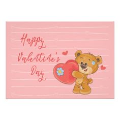 cute happy valentines day card