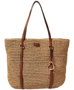 Shop for Lauren Ralph Lauren Crochet Straw Tote Bag at Dillard's. Visit Dillard's to find clothing, accessories, shoes, cosmetics & more. The Style of Your Life. Handbag Accessories, Women Accessories, Clothing Accessories, Ralph Lauren Handbags, Crochet Tote, Straw Tote, Tote Bag, Large Tote, Online Bags