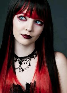 pretty red and black hair