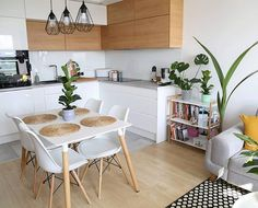 Hej, to znowu ja! 😜 Z racji tego, że jutro mam zaplanowaną Kitchen Room Design, Living Room Kitchen, Dining Room Design, Interior Design Kitchen, Kitchen Decor, Living Room Scandinavian, Small Apartment Kitchen, Küchen Design, Design Ideas