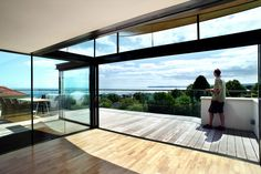 Sunflex UK's SVG sliding door installed by Olsen