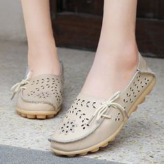 Spring slip on loafers
