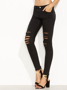 19$  Buy here - http://disyd.justgood.pw/go.php?t=5397 - Black Ripped Skinny Jeans