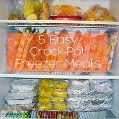 5 Easy Crock-Pot Freezer Meals