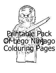Printable Pack Lego Ninjago Colouring Pages
