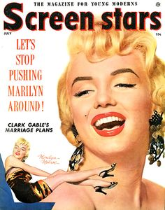 Marilyn Monroe on the cover of Screen Stars magazine
