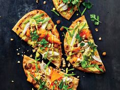 Spice Up Dinner With Grilled Chicken Curry Flatbreads Recipe - Cooking Light Chicken Breast Recipes Healthy, Grilled Chicken Recipes, Healthy Recipes, Lunch Recipes, Weeknight Recipes, Healthy Chicken, Pizza Recipes, Dinner Recipes, Week Of Healthy Meals