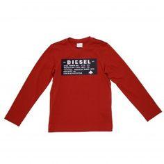 T-shirt stampata in jersey di cotone rossa