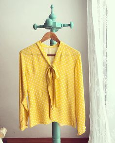 Sew Over It Pussy Bow Blouse in gorgeous yellow! Sew Over It, Bow Blouse, Sewing Patterns, Tunic Tops, Bows, Fancy, Yellow, Instagram, Inspiration