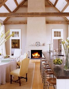 "Ina Garten's (The Barefoot Contessa) rustic-chic ""barn"" house...earthy and elegant."