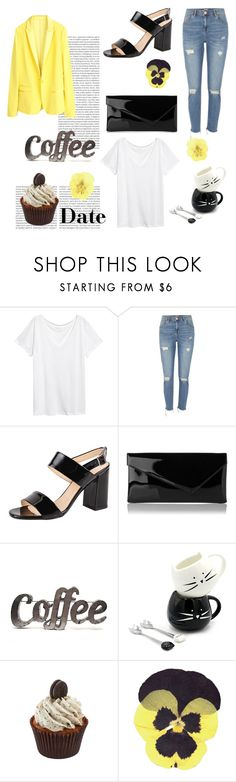 """""""Day 20: Coffee Date ( OC Challenge)"""" by yosifova ❤ liked on Polyvore featuring Oris, Zadig & Voltaire, H&M, River Island, Summit by White Mountain, L.K.Bennett, Rustic Arrow, casual, outfit and challenge"""