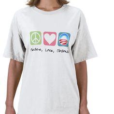 Obama T-Shirt (Peace, Love, Obama)