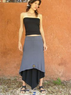 Diagonal womens skirt-Mix and match your favorite colors-3 way skirt-Convertible skirt-Maxi  via Etsy.