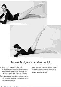 Ballet Beautiful Reverse Bridge with Arabesque Extension