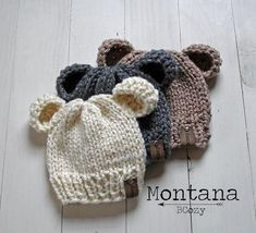 Newborn Knit Hat, Baby Hats Knitting, Baby Knitting Patterns, Knitted Hats, Winter Baby Clothes, Baby Winter, Winter Hats, New Baby Photos, Kids Hats