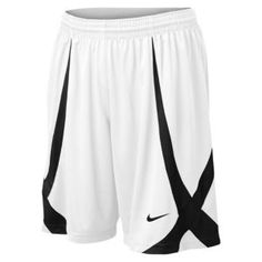 "Nike Horns 11"" Game Short - Men's - Basketball - Clothing - White/Black/Black... love these"