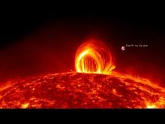 "NASA Releases Stunning Video of ""Fiery Looping Rain on the Sun"". And God designed our world to protect us from this."
