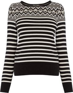 Womens black and white top from Oasis - £38 at ClothingByColour.com