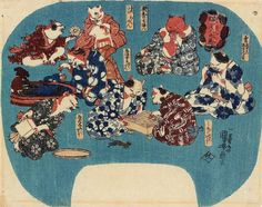 Even In 19th Century Japan, People Loved To See Cats Doing Human Things