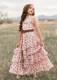 Caroline Maxi Dress in Vintage Floral Little Girl Dresses Caroline Dress Floral Maxi Vintage Little Girl Outfits, Little Girl Fashion, Kids Outfits, Cute Little Girl Dresses, Toddler Outfits, Toddler Girls, Girls Maxi Dresses, Baby Girl Dresses, Baby Dress
