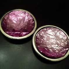 "PAIR Large PURPLE crystal stone gauges plugs pair 9/16"" - 14mm 5/8"" - 16mm 11/16"" - 18mm 3/4"" - 19mm 7/8"" - 22mm"