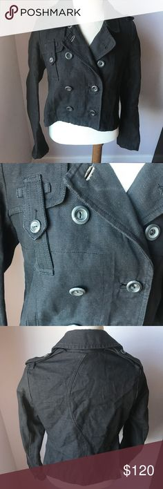 """EDUN Cropped Jacket S Made in Portugal Charcoal Super cute. 17"""" pit to pit 19.5"""" length. Good condition. Bundle & Save 😊 EDUN Jackets & Coats"""