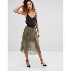 Vero Moda Mesha Tutu Skirt (£22) ❤ liked on Polyvore featuring skirts, mini skirts, green, high waisted tutu, green skirt, high waist skirt, tutu skirts and vero moda